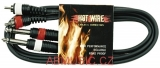 Kabel Hot Wire Basic Line 2x Cinch - 2x Mono Jack 6,3 mm
